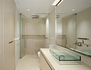 10 Cheap Interior Design Ideas Make Your Small Bathroom Look Amazing Beautiful And Bigger - Tips-Incorporate glass elements
