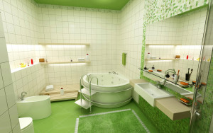 10 Cheap Interior Design Ideas Make Your Small Bathroom Look Amazing Beautiful And Bigger - Tips-Install colorful tiles