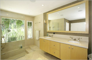 10 Cheap Interior Design Ideas Make Your Small Bathroom Look Amazing Beautiful And Bigger - Tips-Place mirrors on the bathroom
