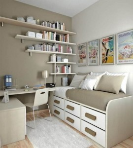 10 Interior Design Ideas Make Your Small Bedroom Look Bigger on a Budget Add drawers to your room