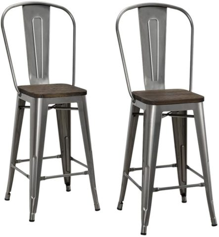 DHP S004105 P Luxor Metal Counter Stool