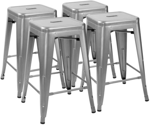 Furmax 24 Inches Metal stools High Backless