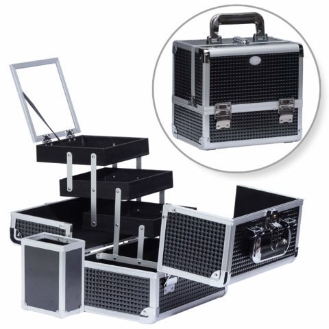 Joligrace Professional Makeup Train Case With Mirror