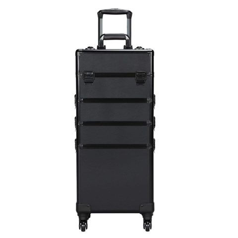 Yaheetech 4-in-1 Professional Makeup Train Case, Black