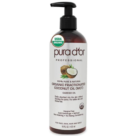 PURA D'OR Organic Fractionated Coconut Oil