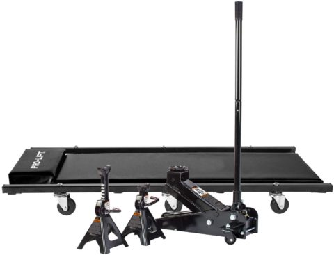 Pro-LifT G-4630JSCB 3-Ton Heavy-Duty Floor Jack, Stand, And Creeper