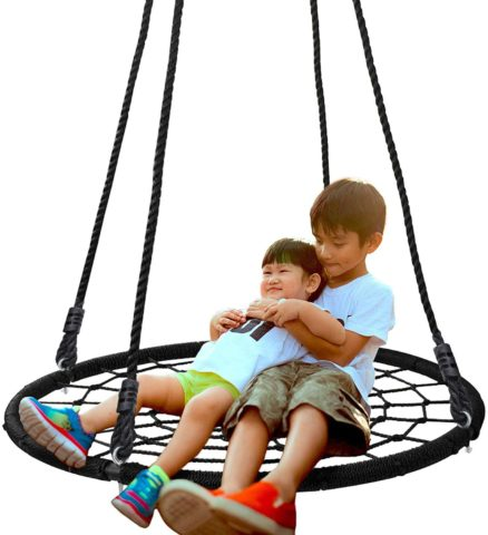 "SUPER DEAL T01-1008-2-G4 40"" Spider Web Tree Swing"