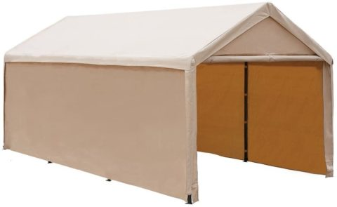 Abba Patio APGP36PEB Extra-Large Heavy-Duty Carport, Beige