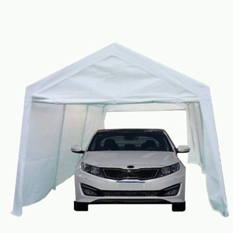 Overwhelming 10x20 ft Heavy-Duty Carport, White
