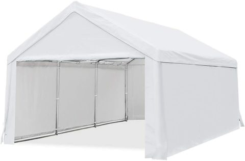 Quictent 10'x20' Carport Car Canopy, White