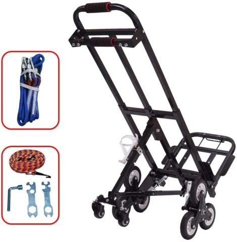 Mecete (330lbs. load capacity) Stair Climbing Cart