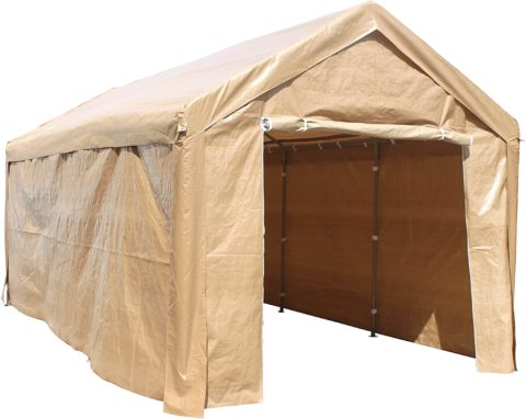 ALEKO CP1020BE Garage Canopy Tent With Sidewalls, Beige